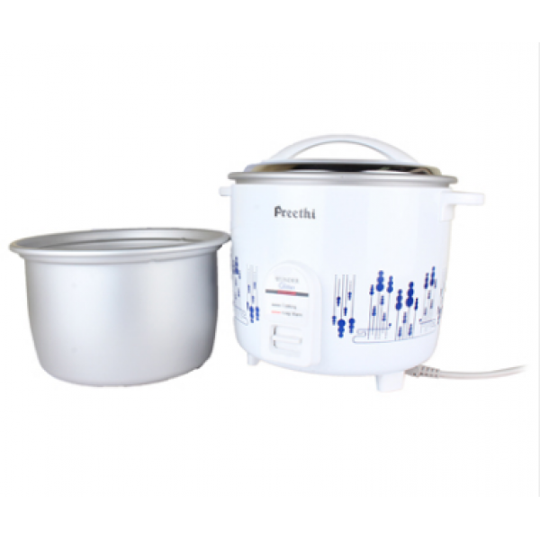 Preethi - RC-326 Wonder Glitter Double Pan Electric Rice Cooker 2.2 Litre 1 Unit, Box