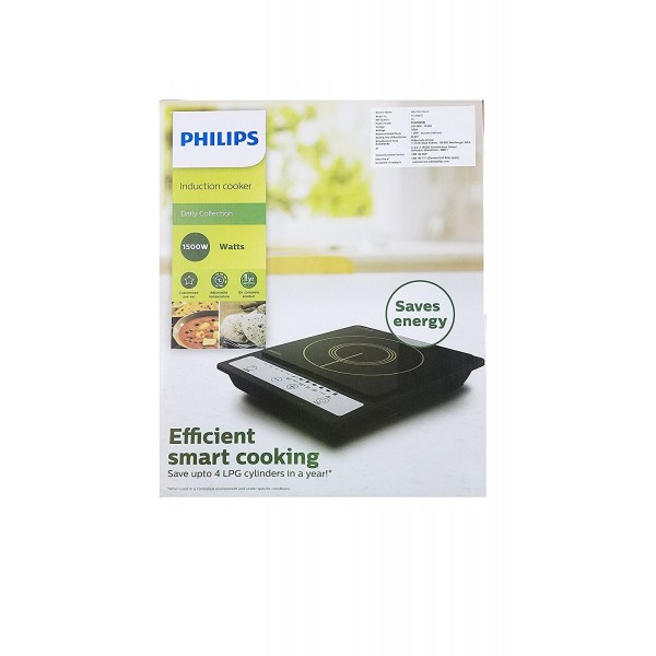 Philips Daily Collection HD4920 1500-Watt Induction Cooktop  (Black, Push Button)