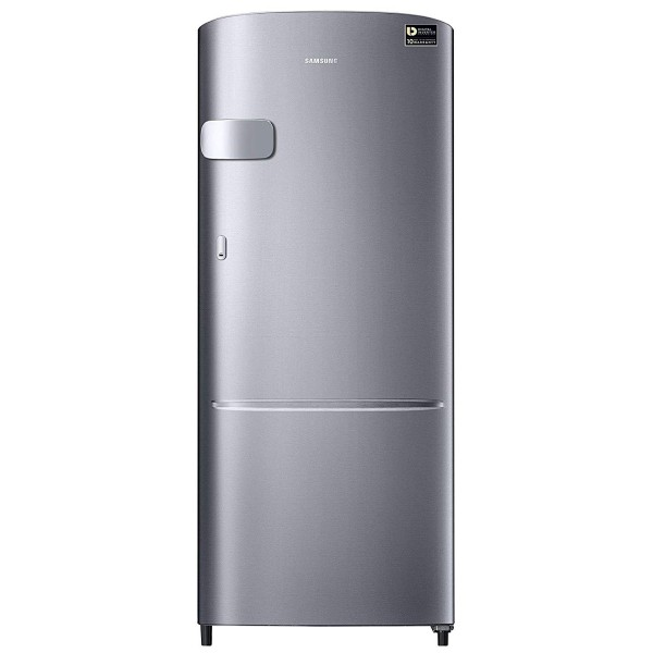 Samsung 192 L 3 Star Direct Cool Single Door Refrigerator(RR20N1Y2ZS8/HL/RR20N2Y2ZS8/NL, Elegant Inox, Base Stand with Drawer, Inverter Compressor)