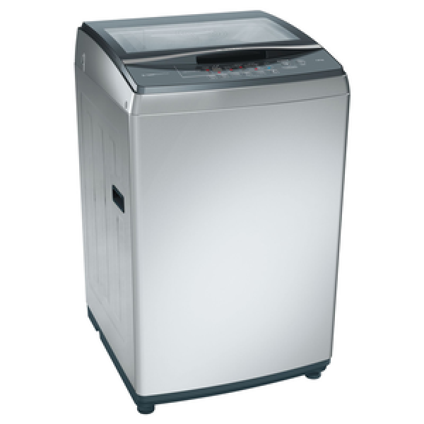 Bosch 7.5 kg Fully Automatic Top Loading Washing Machine (WOA752S0IN, Silver)