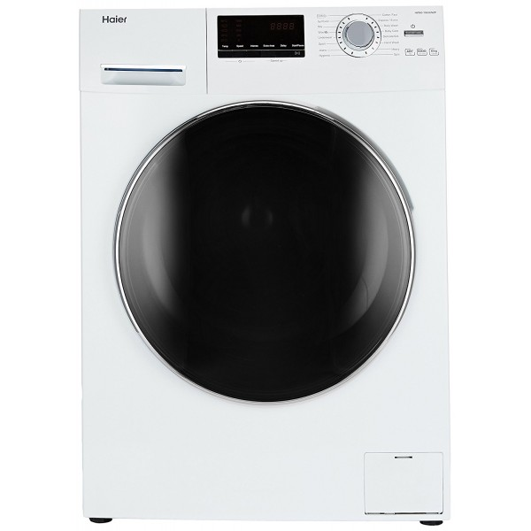 Haier 6 kg Fully-Automatic Front Loading Washing Machine (HW60-10636NZP, White)